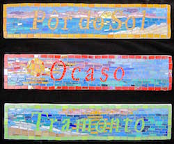 3 more mosaic signs for the Antigua rental -