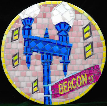 beacon st sign in mosaic