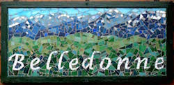 Though Belledonne is a French word, this mosaic is in Dublin, Ireland.