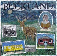 mosaic of town of Buckland, Shelburne Falls, MA