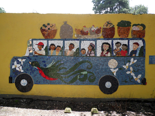 mosaic project guatemala, chicken bus