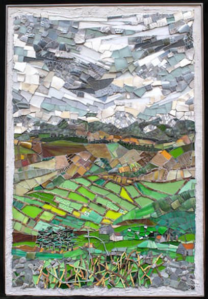 mosaic abstract landscape of Ireland