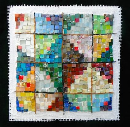abstract quilt mosaic